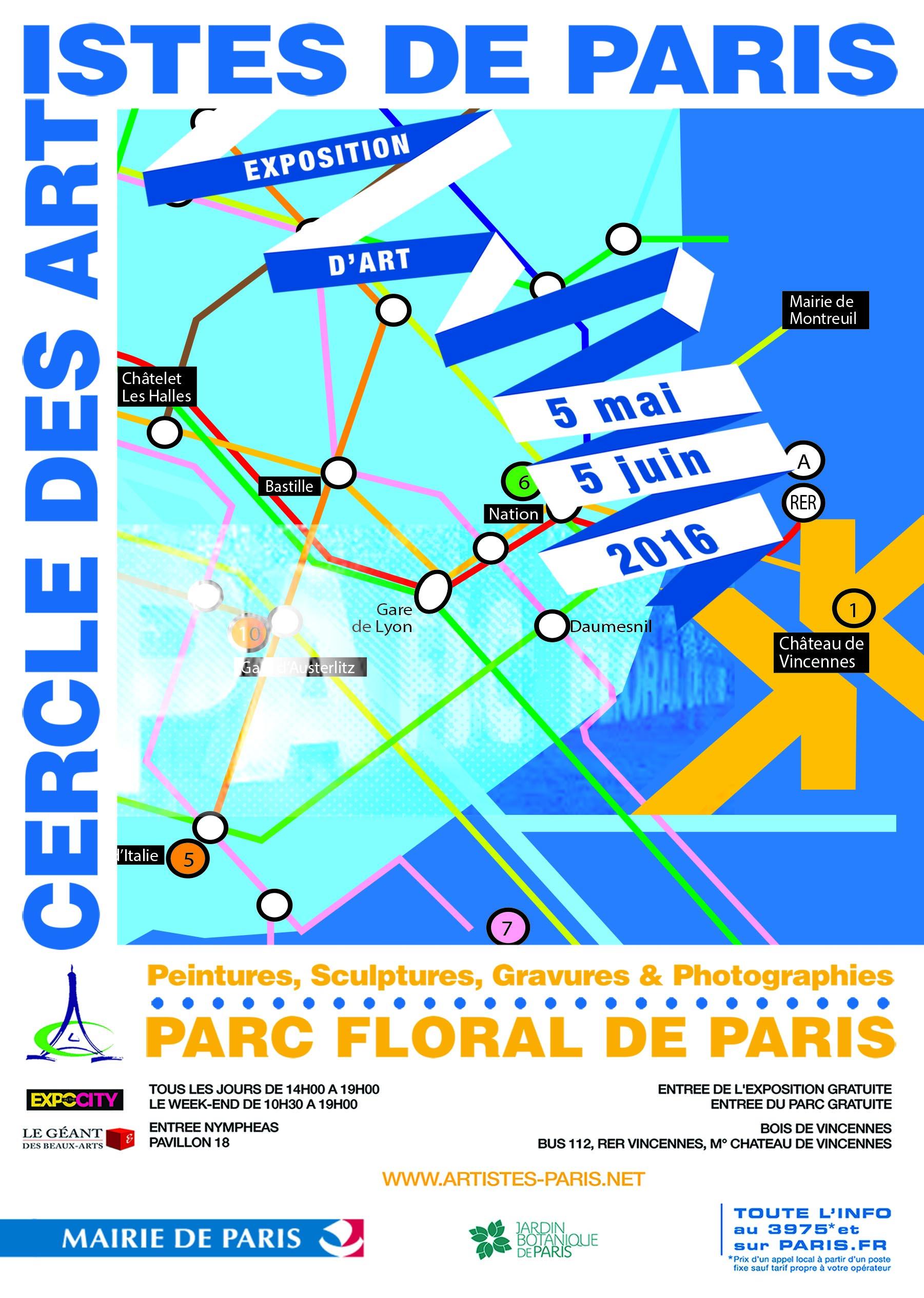 Cercle des Artistes de Paris  au Parc Floral de Paris du 5 Mai au 5 Juin