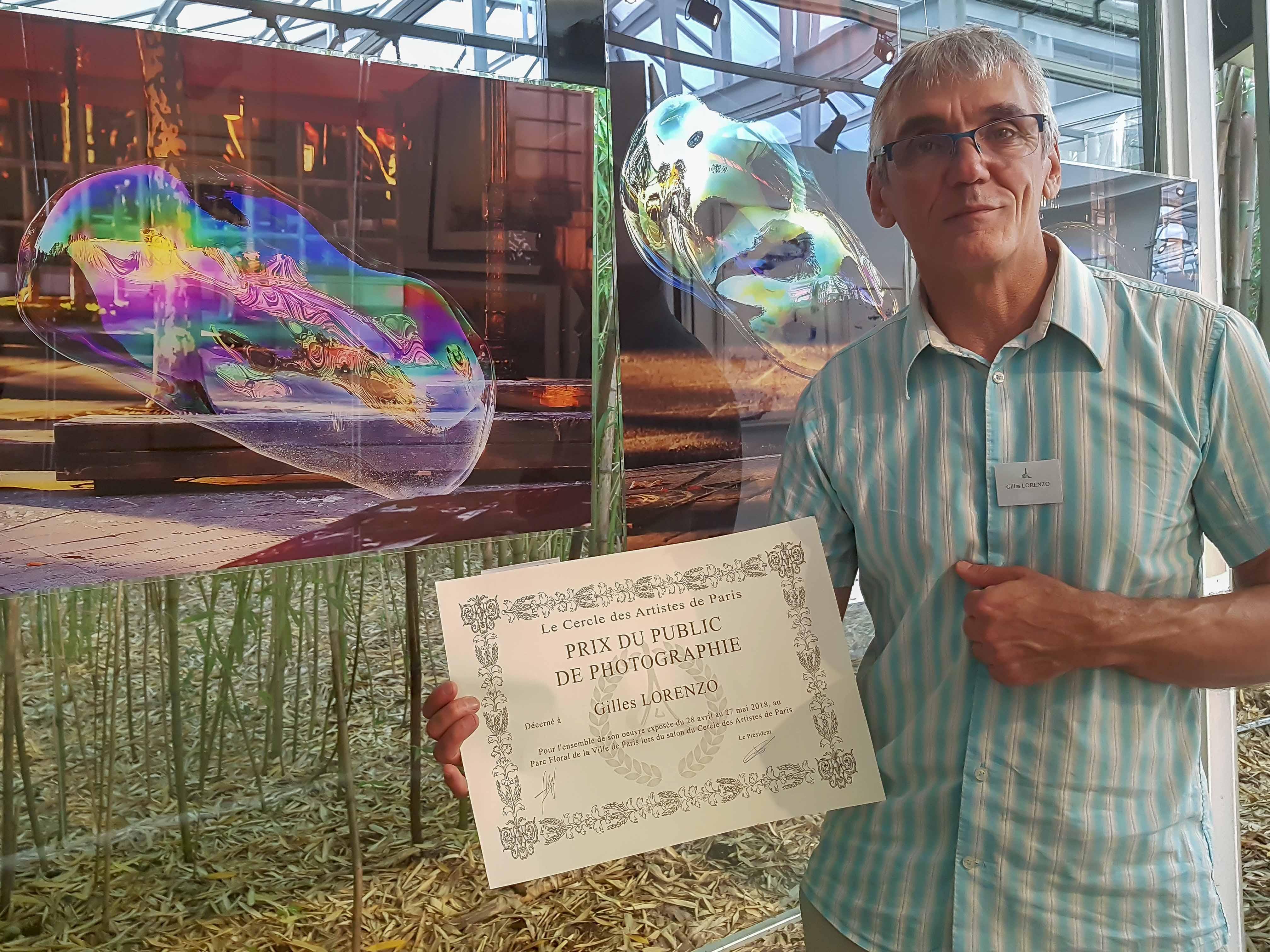 """"""" Grand Prix du Public """" 2018  au Parc Floral de Paris avec LE CERCLE DES ARTISTES DE PARIS"""